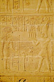 Hieroglyphics on the wall in luxor temple Royalty Free Stock Images