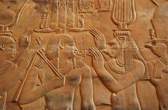 Hieroglyphs στο ναό Αίγυπτος Kom Ombo στοκ φωτογραφίες με δικαίωμα ελεύθερης χρήσης