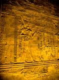 Hieroglyphs στο ναό Horus, Edfu Στοκ εικόνα με δικαίωμα ελεύθερης χρήσης