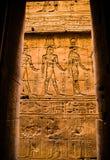 Hieroglyphs στο ναό Horus, Edfu Στοκ εικόνες με δικαίωμα ελεύθερης χρήσης