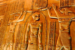 Hieroglyphs στο ναό Luxor Στοκ Φωτογραφίες