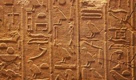 hieroglyphs τοίχος Στοκ εικόνες με δικαίωμα ελεύθερης χρήσης