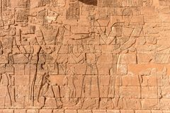 Hieroglyphs των αιγυπτιακών Θεών Nubian στοκ εικόνα με δικαίωμα ελεύθερης χρήσης