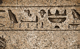Hieroglyphs. Egypt hieroglyphs on the old wall Royalty Free Stock Images