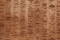 Hieroglyphs in color Royalty Free Stock Photo
