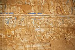 Hieroglyphs in color Stock Image