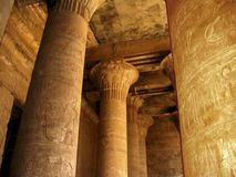 Hieroglyphs on columns Stock Images