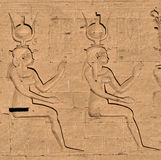Hieroglyphs at Edfu Temple 4 Stock Photography