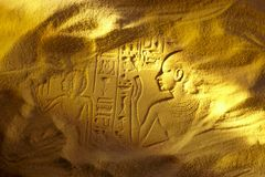 Hieroglyphs egípcios antigos Foto de Stock