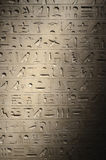 Hieroglyphs egípcios antigos fotografia de stock royalty free