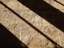 Hieroglyphs egípcios antigos imagem de stock
