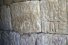 Hieroglyphs egípcios em Hattusa imagens de stock