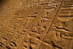 Hieroglyphs. Egyptian hieroglyphs from old tomb Stock Photography