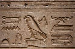 Hieroglyphs Horus temple Edfou Stock Images