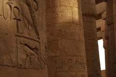 hieroglyphs karnak ναός Στοκ εικόνα με δικαίωμα ελεύθερης χρήσης