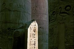 Hieroglyphs in Karnak temple Royalty Free Stock Photos