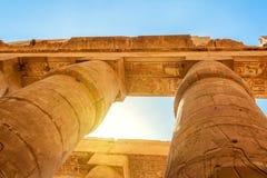 Hieroglyphs of Karnak temple Stock Photography