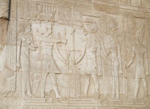 Hieroglyphs in kom ombo Royalty Free Stock Photography