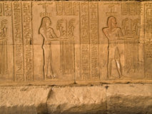 Hieroglyphs in  Kom Ombo Temple Stock Photo