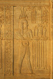 Hieroglyphs. In the Kom Ombo temple Stock Photography