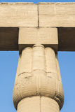 Hieroglyphs on Luxor Temple, Egypt Stock Image