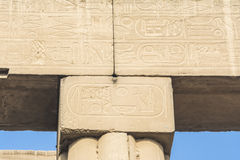 Hieroglyphs on Luxor Temple, Egypt Royalty Free Stock Photos