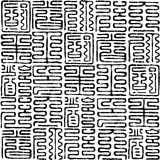 hieroglyphs mönsan seamless Fotografering för Bildbyråer