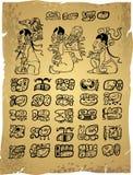 Hieroglyphs maias ilustração stock