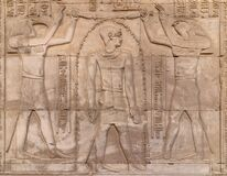 Free Hieroglyphs On A Wall At The Temple Of Kom Ombo In The Nile River At Sunset, Egypt Stock Photography - 177770492