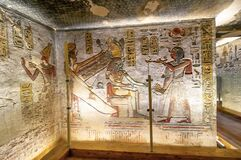 Free Hieroglyphs On A Wall In The Valley Of Kings In Luxor, Egypt Stock Photos - 177815943