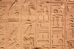 Hieroglyphs, Temple of Karnak, Egypt Royalty Free Stock Photography