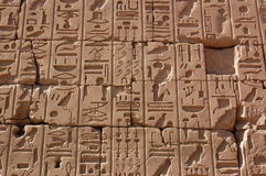 Hieroglyphs, Temple of Karnak, Egypt Royalty Free Stock Photos