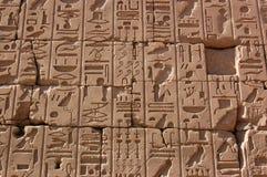 Hieroglyphs, Temple of Karnak, Egypt Royalty Free Stock Photos
