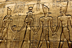 Hieroglyphs in temple Luxor Stock Image