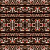 Hieroglyphs Tribal Pattern Stock Images