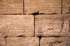 Hieroglyphs velhos de Egipto fotografia de stock