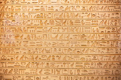 Hieroglyphs on the wall Royalty Free Stock Photo