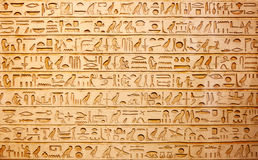 Hieroglyphs on the wall Stock Image