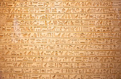 Hieroglyphs on the wall Royalty Free Stock Image