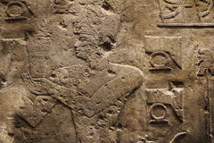 Hieroglyphs wall Stock Photos