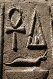 hieroglyphsvägg Arkivbild