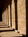 Hierogram in Temple of Horus Royalty Free Stock Image