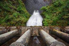 Hieronder watervallen Royalty-vrije Stock Foto