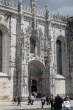 Hieronimuskloster i Lissabon Arkivfoton