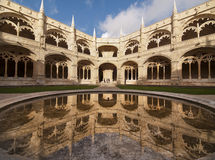 The Hieronymites Monastery. (Mosteiro dos Jeronimos), located in the Belem district of Lisbon, Portugal. Typical example of the Manueline style (Portuguese late Royalty Free Stock Images