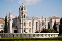 Hieronymites Monastery, Lisbon, Portugal. Hieronymites Monastery (Mosteiro dos Jeronimos) located in the Belem district of Lisbon, Portugal. A  magnificent Royalty Free Stock Photos