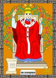 The hierophant card Stock Images