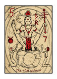 The Hierophant. The tarot card Royalty Free Stock Image