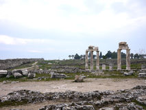 Hieropolis Ruins in Pamukkale Turkey Royalty Free Stock Photography