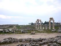 Hieropolis Ruins in Pamukkale Turkey Royalty Free Stock Photography